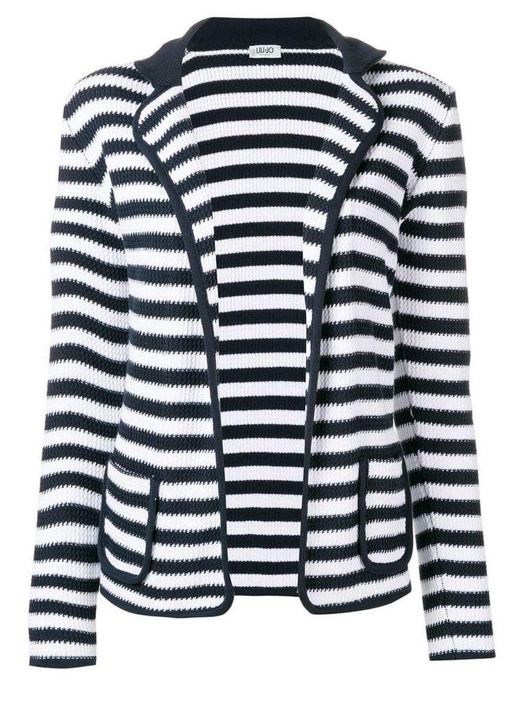 Liu Jo knit striped blazer - White