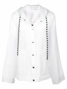 Proenza Schouler PSWL Alphabet Raincoat - White