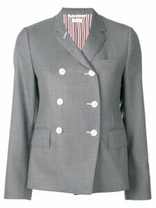 Thom Browne Narrow Shoulder Wool Sport Coat - Grey