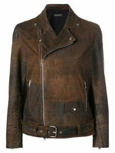 Simonetta Ravizza Lilla biker jacket - Brown