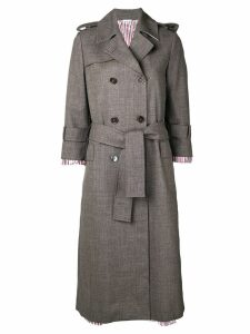 Thom Browne Drop Lining Trench Overcoat - Grey