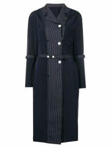 Thom Browne Inside-Out Coat Lining Dress - Blue