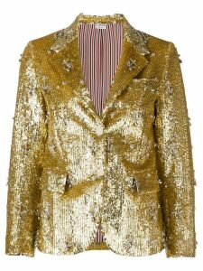 Thom Browne Anchor Sequin Narrow Sport Coat - Metallic
