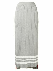 Thom Browne Trompe L'oeil Pleat Slip Skirt - Grey