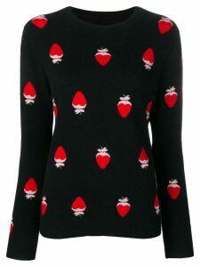 Chinti & Parker strawberries knitted jumper - Black