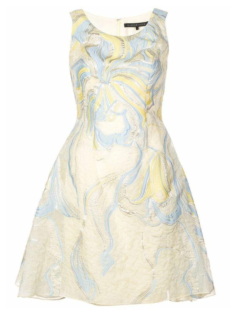 Rubin Singer iris cloqué dress - Yellow