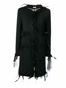 Thom Browne Appliqué Oversized Cardigan Overcoat - Black