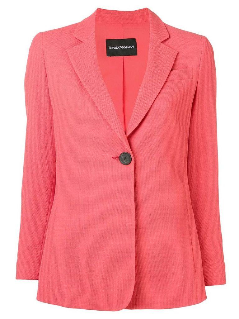Emporio Armani single button blazer - Pink