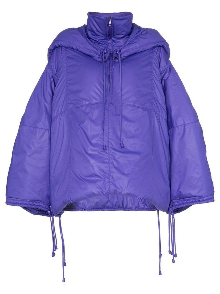 Montana hooded puffer jacket - Purple