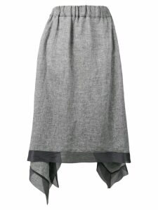 Fabiana Filippi asymmetric skirt - Grey