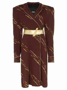 Montana hooded midi-dress - Brown
