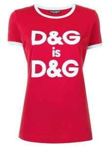 Dolce & Gabbana logo print T-shirt - Red