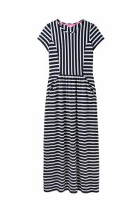 Womens Joules Blue Trudy Short Sleeve Maxi Dress -  Blue