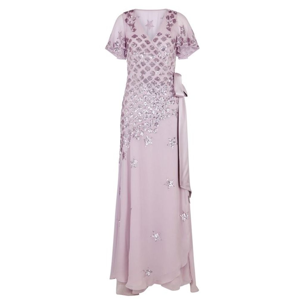 Temperley Starlet Sequin-embellished Chiffon Gown