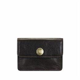 Maxwell Scott Bags Maxwell-scott Womens Business Card Holder - The Portofino Chocolate