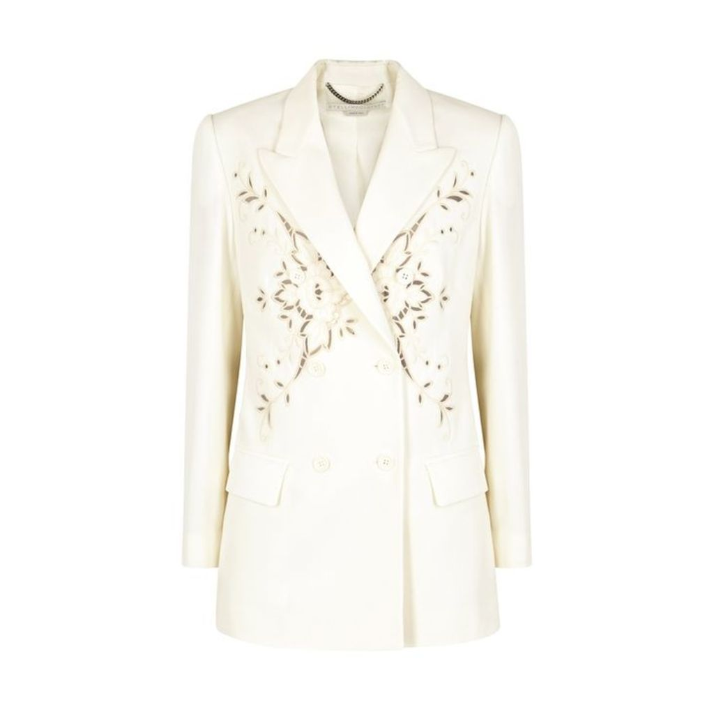 Stella McCartney Ivory Embroidered Wool Blazer