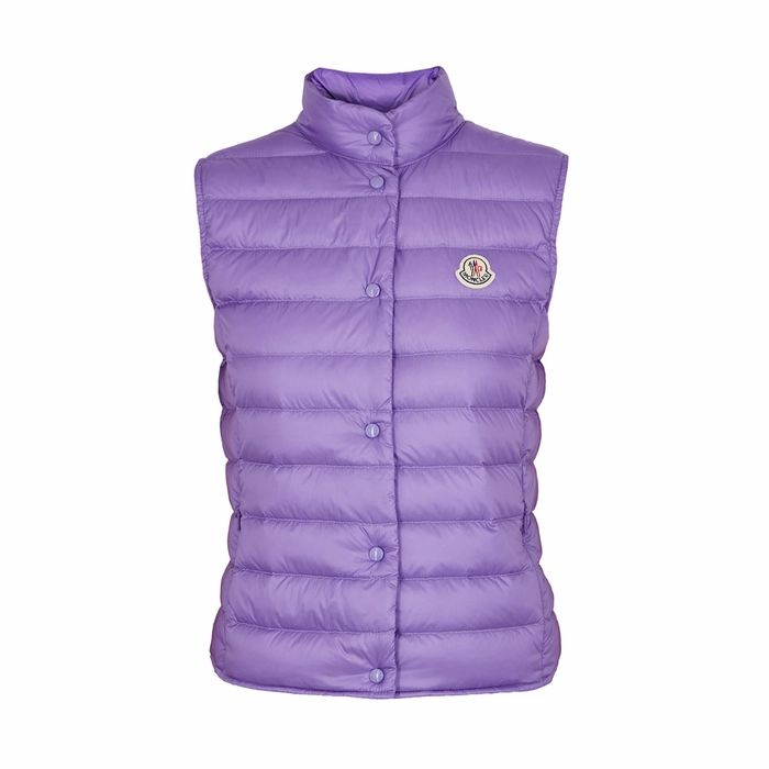 Moncler Liane Violet Quilted Shell Gilet
