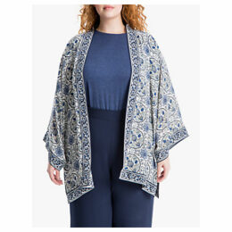 Max Studio + Floral Print Kimono, Blue