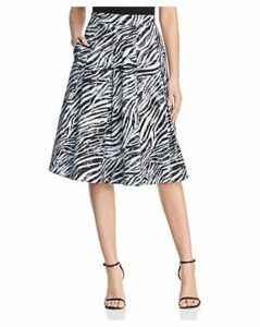 Donna Karan New York Pleated Zebra Print Skirt