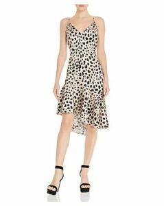 Aqua Leopard-Print Slip Dress - 100% Exclusive