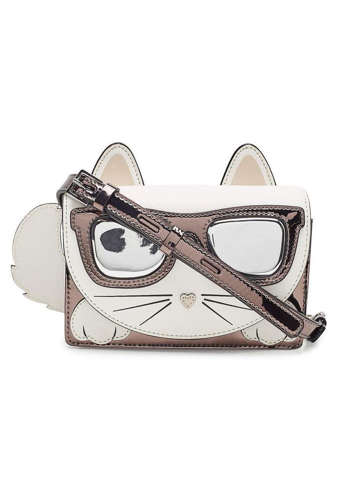 Karl Lagerfeld K/Ikonik Choupette Crossbody Bag with Leather