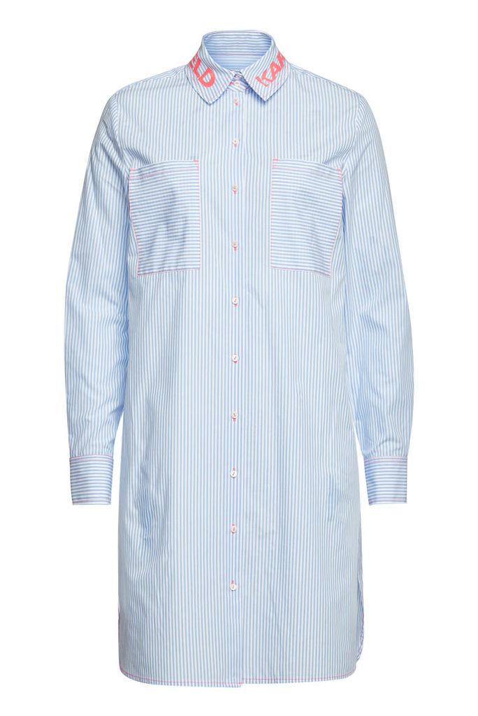 Karl Lagerfeld Striped Cotton Shirt Dress