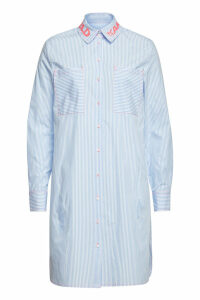 Karl Lagerfeld Striped Cotton Shirt Dress