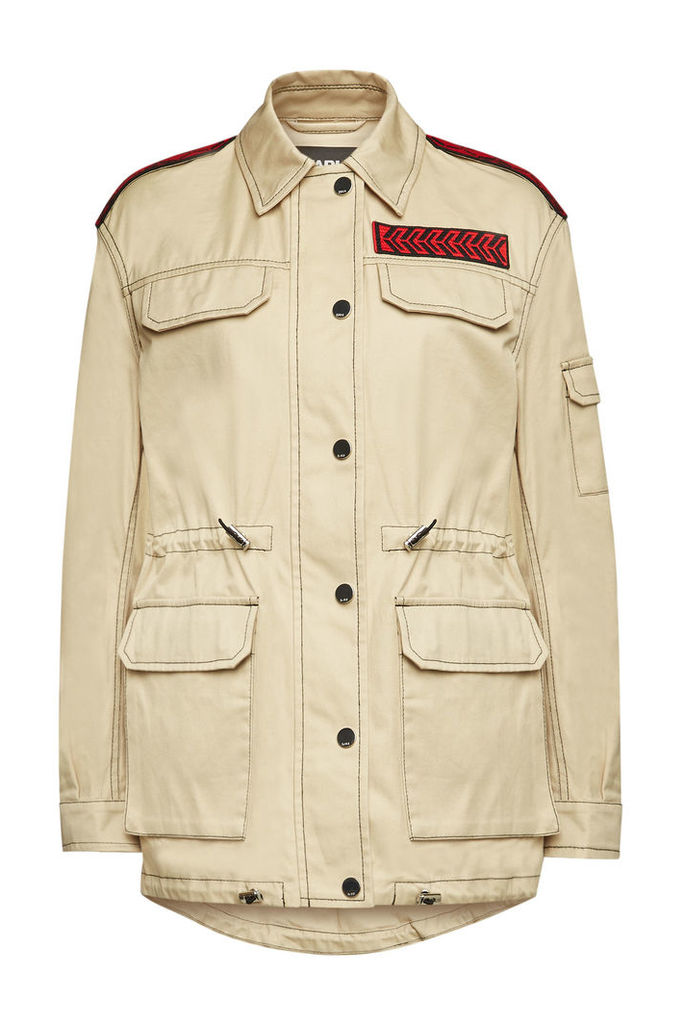 Karl Lagerfeld Cotton Jacket with Embellishment