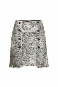 Karl Lagerfeld Boucle Mini Skirt with Cotton
