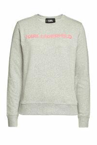 Karl Lagerfeld Neon Lights Embellished Cotton Sweatshirt