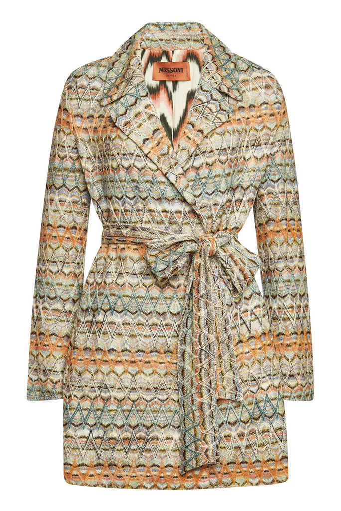 Missoni Knit Coat with Wool