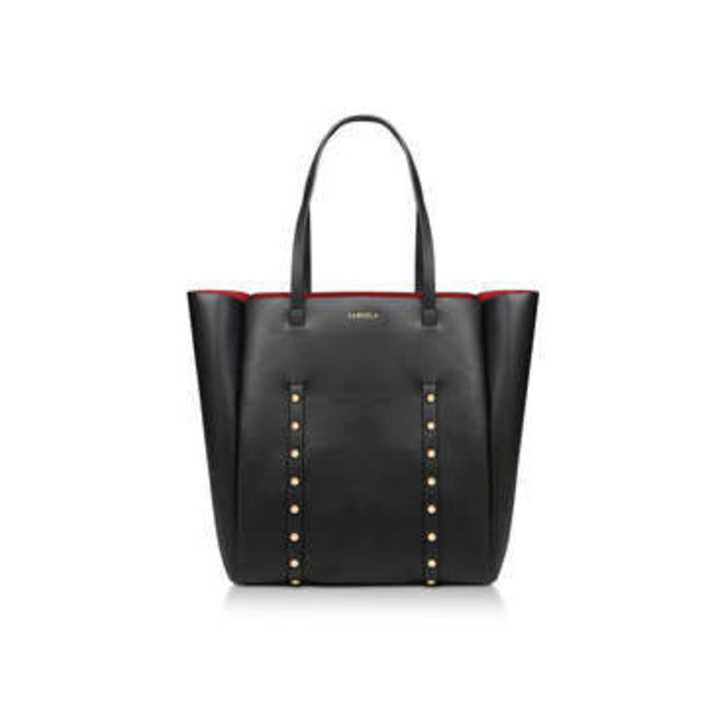 Carvela Claudia Stud Shopper - Black Embellished Shopper Bag