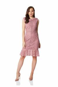 Ladder Trim Lace Dress