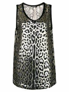 Dolce & Gabbana leopard print lurex top - Gold