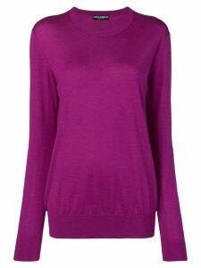 Dolce & Gabbana fine knit jumper - Purple