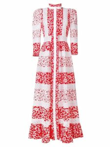 Alexander McQueen floral print maxi dress - Red