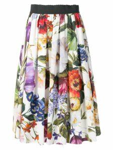 Dolce & Gabbana floral midi skirt - White