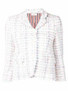 Thom Browne Braided Ribbon Tweed Sport Coat - White