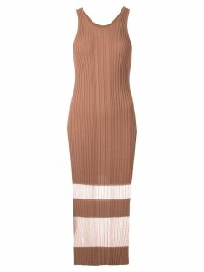 Dion Lee Opacity tank dress - Brown