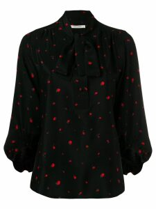 Chinti & Parker printed pussy bow blouse - Black