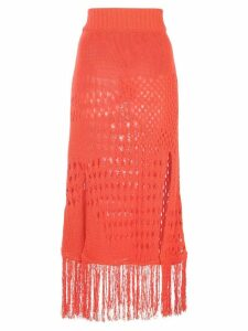 Altuzarra 'Benedetta' Knit Skirt - Orange