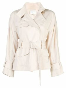 Vince short belted trench coat - Neutrals