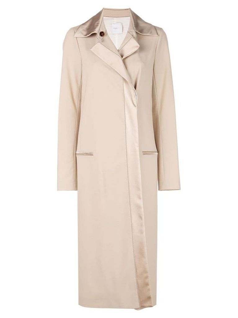 Rosetta Getty tuxedo trench coat - Brown