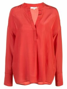 Vince tunic v-neck blouse - Red