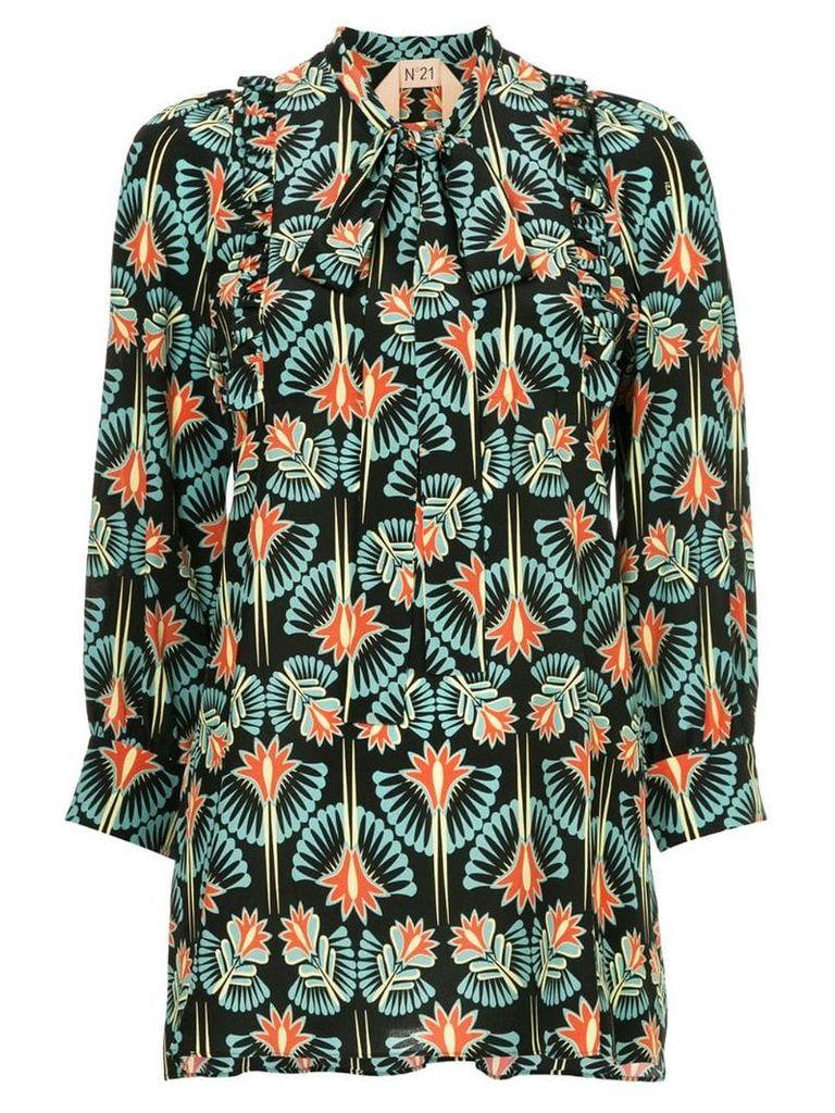 Nº21 floral patterned blouse - Blue