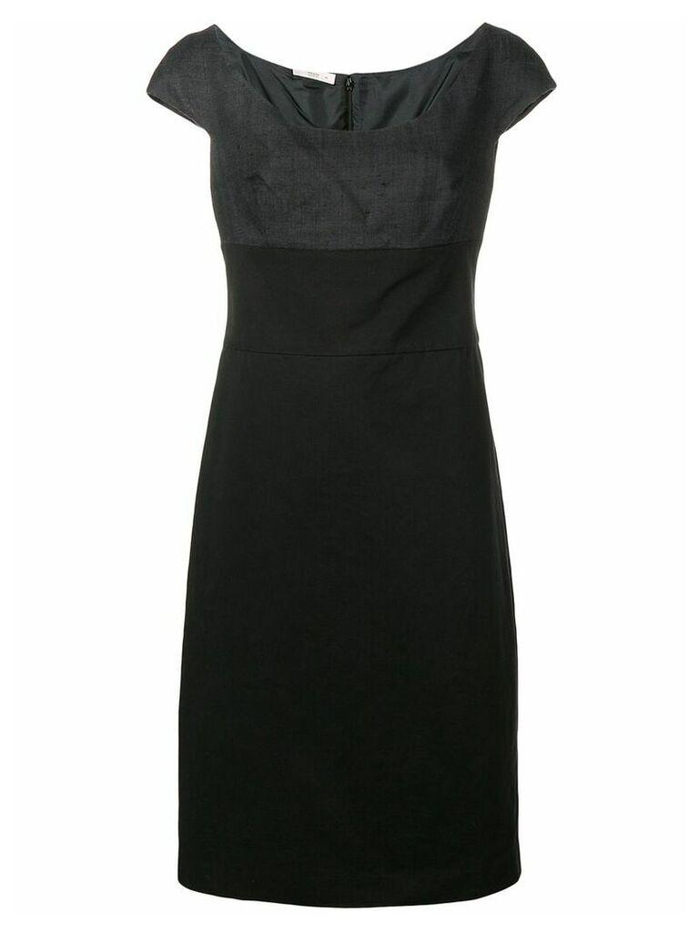 Prada Vintage two tone fitted dress - Black