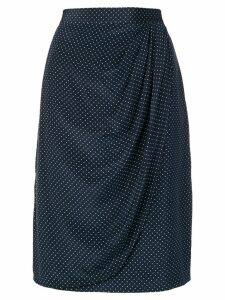 Valentino Pre-Owned draped polka dot skirt - Blue