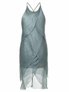 Giorgio Armani Pre-Owned asymmetric draped dress - Green