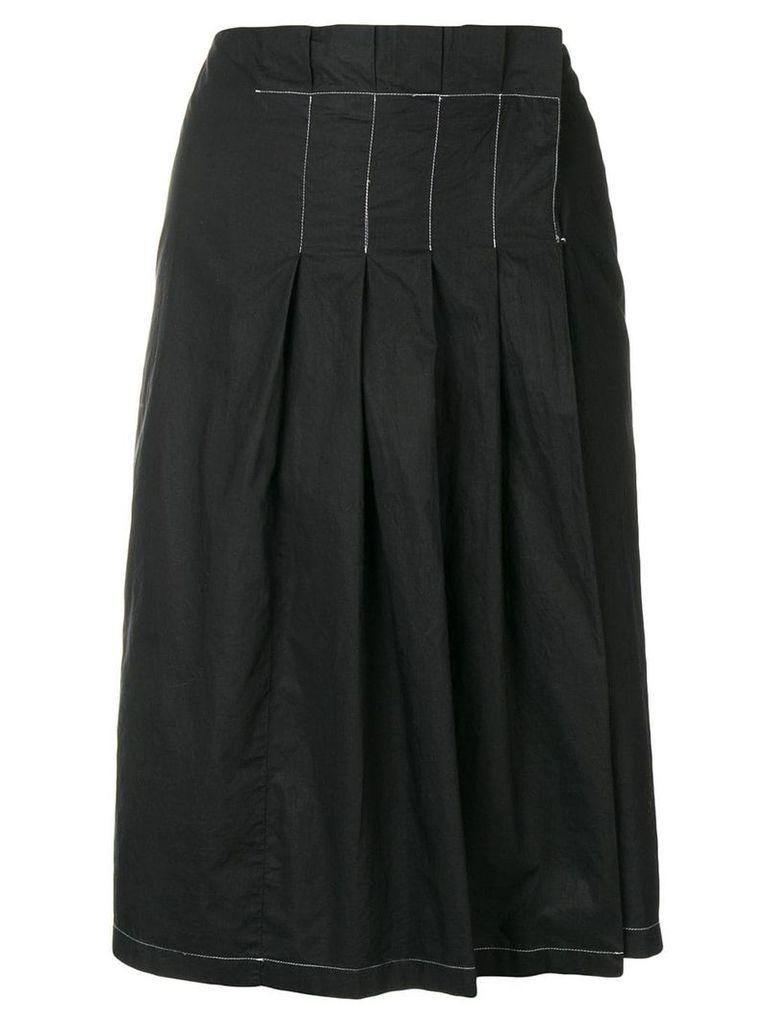 Prada Vintage pleated midi skirt - Black