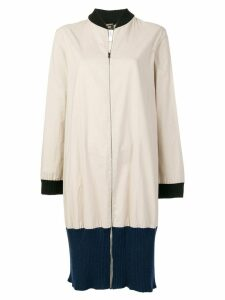 Jean Paul Gaultier Pre-Owned colour block zipped coat - Neutrals